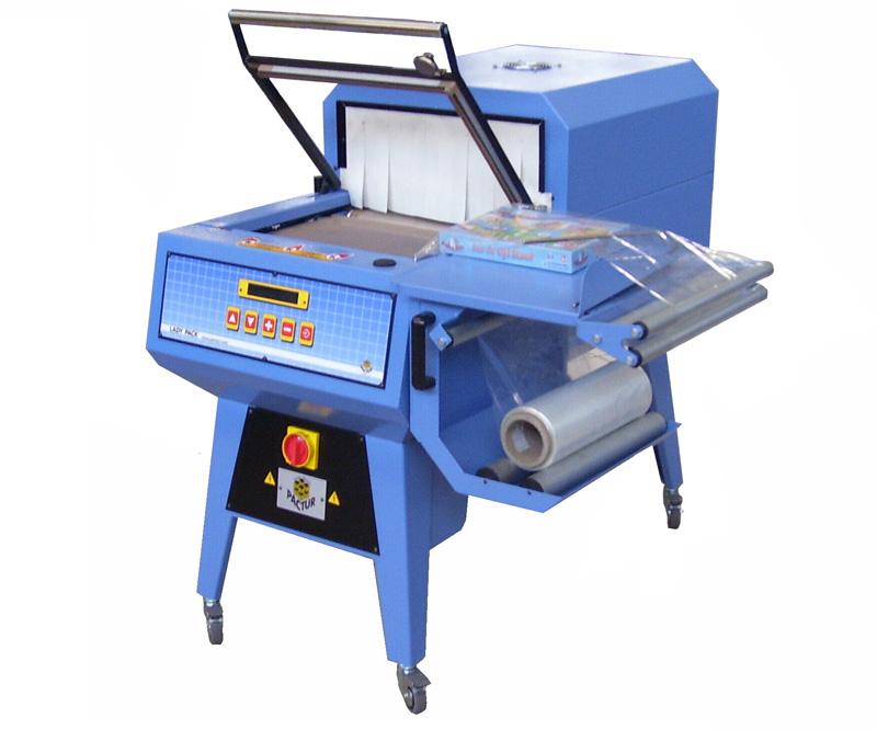 Winkelschweissmaschine mit Schrumpftunnel